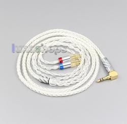 LN006340 99.99% Pure Silver XLR 3.5mm 2.5mm 4.4mm Earphone Cable For Sennheiser HD580 HD600 HD650 HDxxx HD660S
