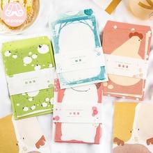 Mr paper, 4 шт./лот, бумажные конверты, с 8 шт., Kawaii, Мультяшные буквенные накладки, креативные канцелярские принадлежности, цветные подарочные конверты Ins