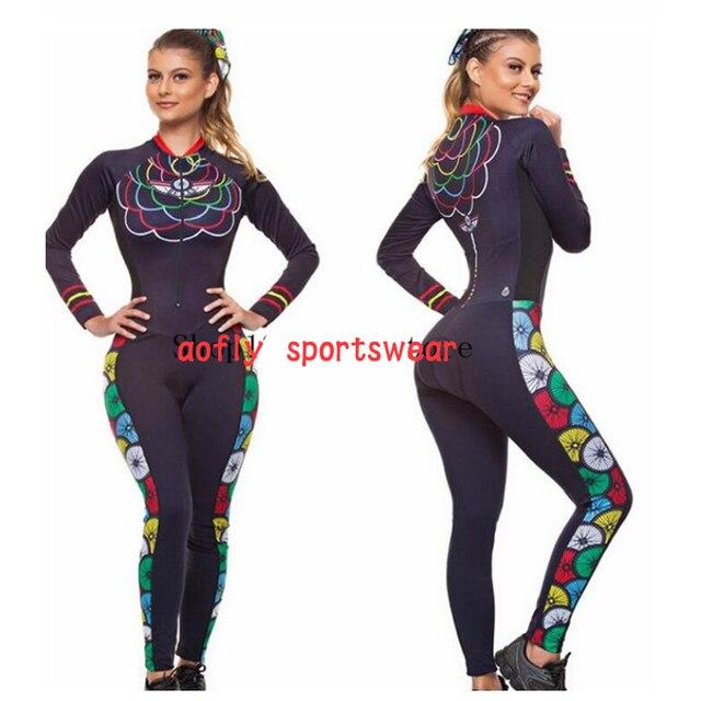 2020 feminino longo triathlon manga longa ciclismo skinsuit maillot ropa ciclismo casal conjuntos de camisa bicicleta macacão 16 cores macaquinho ciclismo feminino manga longa roupas femininas com frete gratis roupa de 5