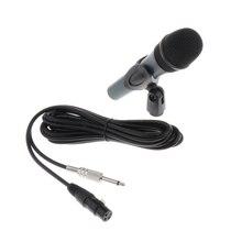 Портативный динамик вокальный микрофон для этап KTV домашний EQ-845 с кабелем Электрический инструмент запчасти