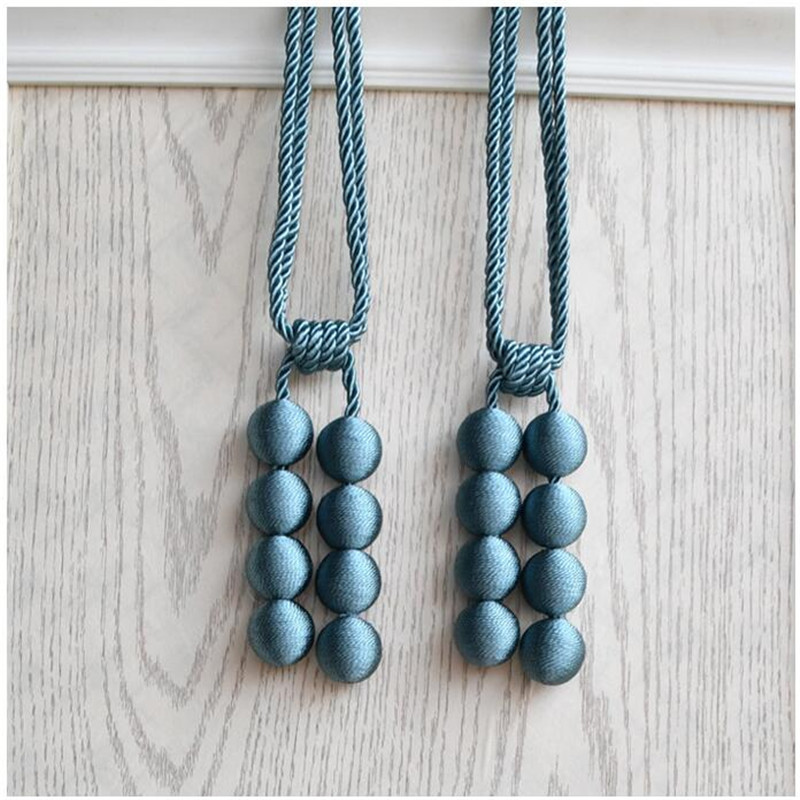 Hand Made Curtain Straps Simple Curtains Hanging Ball For Curtains Hook Curtain Decoration Accessories Tied Rope