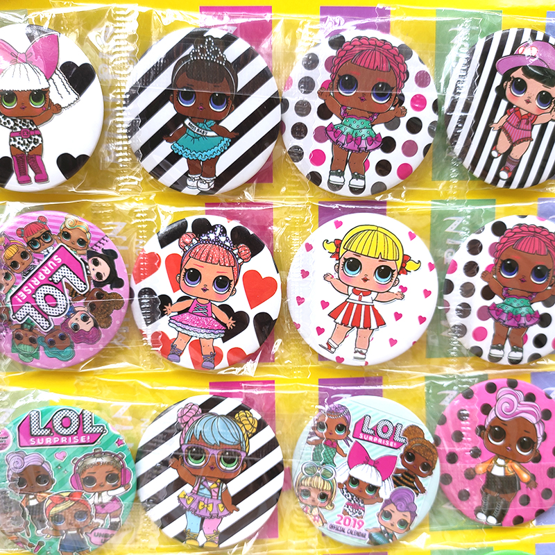 L.O.L.SURPRISE!  Lol Dolls Toys Badge Birthday Party Decorations Toy Kid Anime Figure Cartoon Badges For Clothes Party Toys Gift