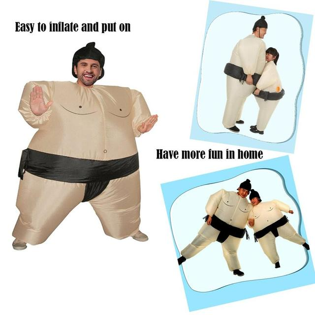Купить надувной костюм сумо борец на хэллоуин для взрослых/детей полных