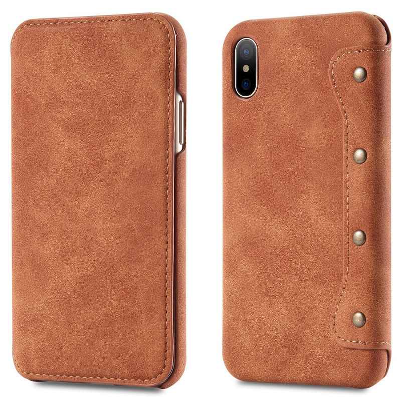 Luxury Leather Flip case For iPhone Xs Max Xr X Wallet Card Slot Holder Stand Book Cover for iPhone 8 7 6 6s Plus Phone Coque image