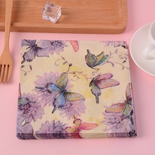 60pcs Butterfly Pattern Decoupage Napkin Paper Tissue for Xmas Wedding Decoration Tableware