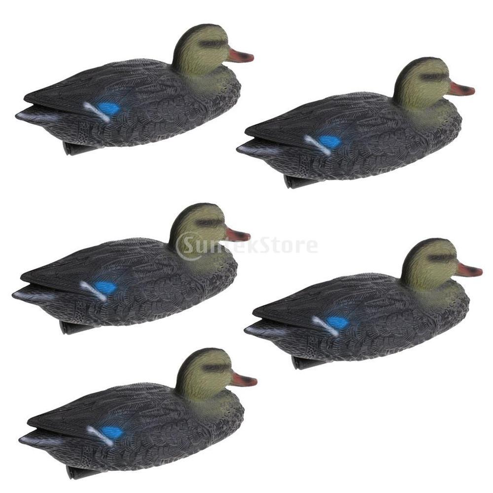 5pcs Lightweight Floating Mallard Duck Hunting Decoys Duck Decoys Garden Decor Hunter Greenhand Gear Garden Yard Pool Ornaments