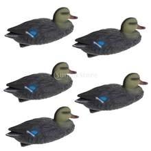 5 uds. De señuelos para caza de patos, señuelos de pato flotantes ligeros, decoración de jardín, Hunter Greenhand Gear, adornos para piscinas de jardín