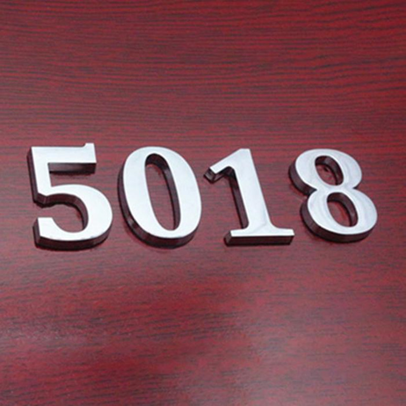 0-9 House Number Sign Self Adhesive Address Digit Sticker Plate Numeral Door Plaque for Home Hotel MYDING(China)