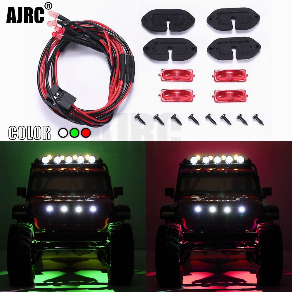 For 1/10 RC Car AXIAL SCX10 III JEEP Wrangler Wheel Eyebrow Light Atmosphere Light Chassis Light Decorative Light