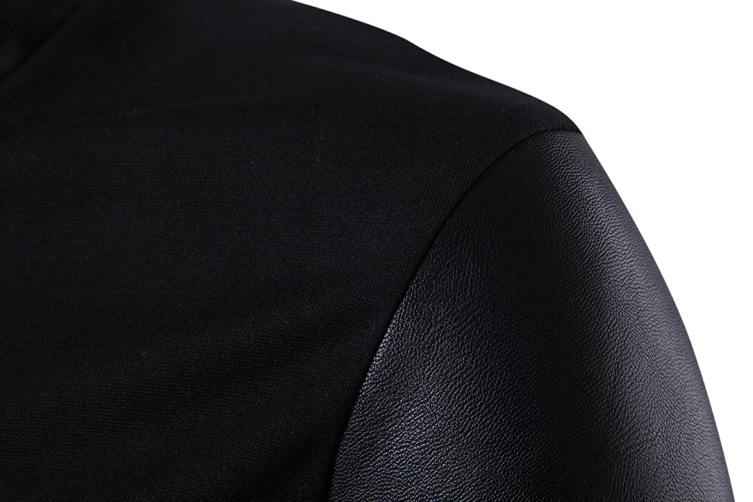 2020 MEN's Clothing Spring Clothing New Style Stand Collar Slim Fit Sweater Fight Skin Knit Hoodie Cotton 3