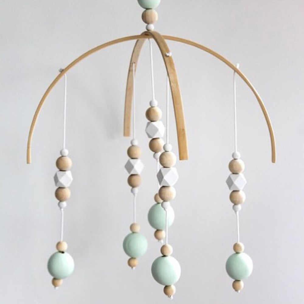 Baby Rasseln Mobilen Holz Perlen Windspiele Glocke Spielzeug Für Kinder Zimmer Bett Hängen Zelt Decor Fotografie Requisiten Geschenke Heißer verkauf