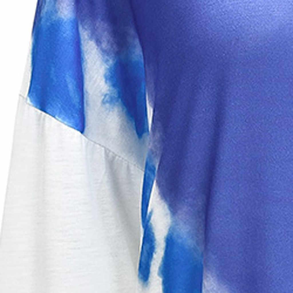 Muqgew Kpop Fashon Kemeja Wanita Musim Gugur Harajuku Sweatshirt Tie Dye Warna Streetwear Pullover Moletom Feminino Inverno Толстовка