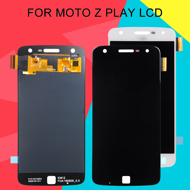 Dinamico For Motorola Moto Z Play Display Screen With Touch Panel Glass Digitizer Assembly <font><b>XT1635</b></font> LCD Free Shipping+Tools image
