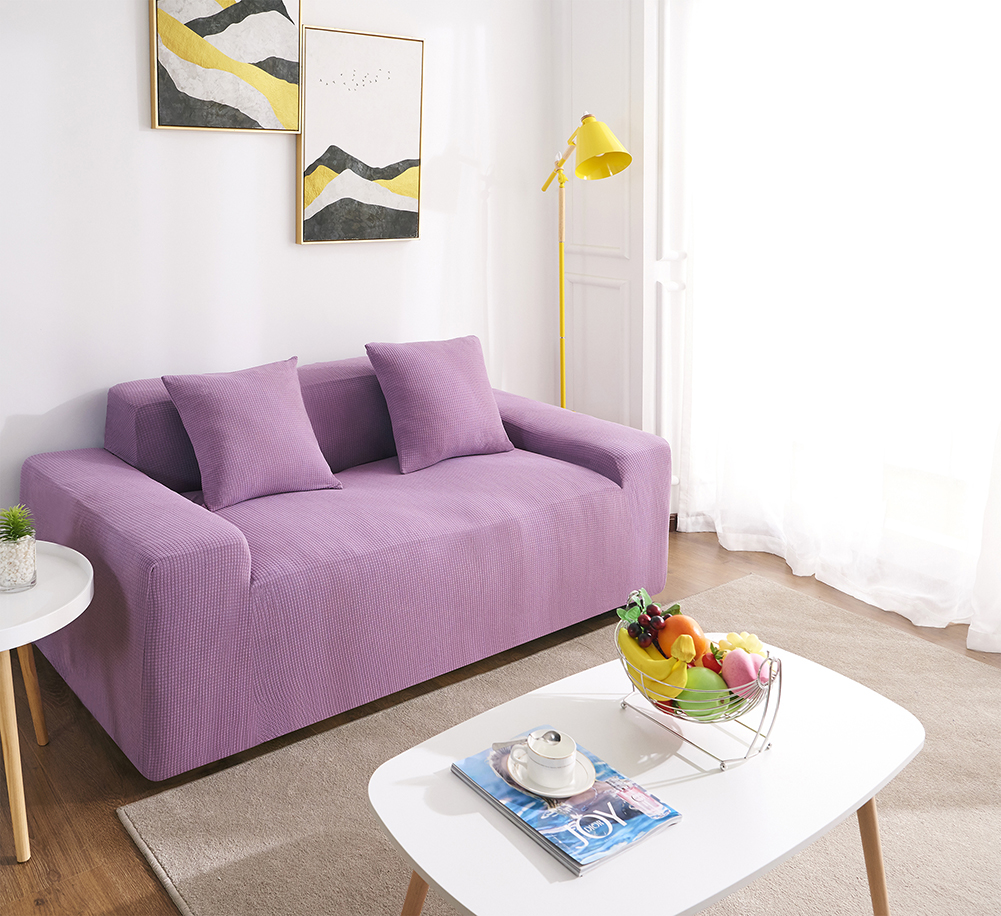 MEIJUNER Waterproof Sofa Cover in Solid Color with High Stretchable Slipcover for Dining Room 12