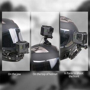 Image 4 - Sport Camera Accessoires Helm Kin Beugel Voor Gopro Hero 8 7 6 5 Sjcam Bike Motorhelm Chin Mount accessoires