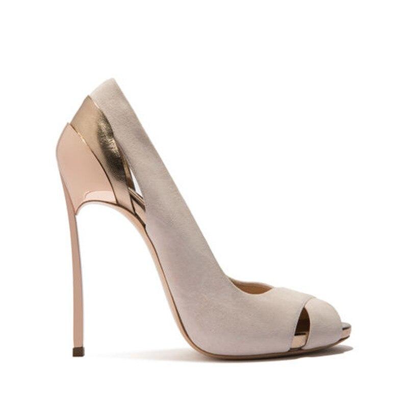 YECHNE Woman Party Bridal Pumps Peep Toe High Heels Shoes Plus Size 33 43 Prom Valentine Open Teen Hooks Stiletto