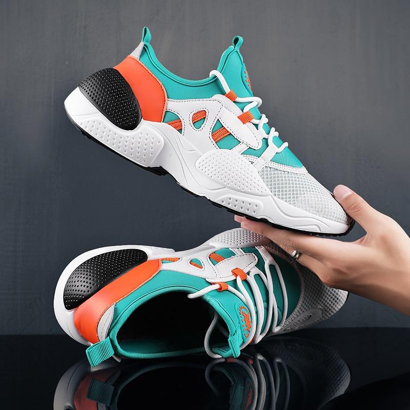 39 46 รหัสระบายอากาศผู้ชายรองเท้าเทนนิส 2019 ใหม่ชายกีฬารองเท้าเสถียรภาพรองเท้าผ้าใบ Air Breathable Trainers-ใน รองเท้าเทนนิส จาก กีฬาและนันทนาการ บน   3