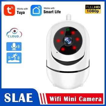 Tuya 1080P Wifi IP Camera Cloud Storage 2MP IR Night Vision Two Way Audio Home Surveillance Mini Wireless - discount item  32% OFF Video Surveillance
