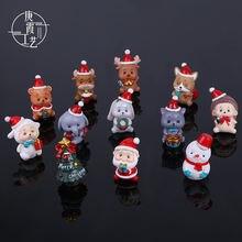 Рождественские украшения милые фигурки животных Санта Клаус