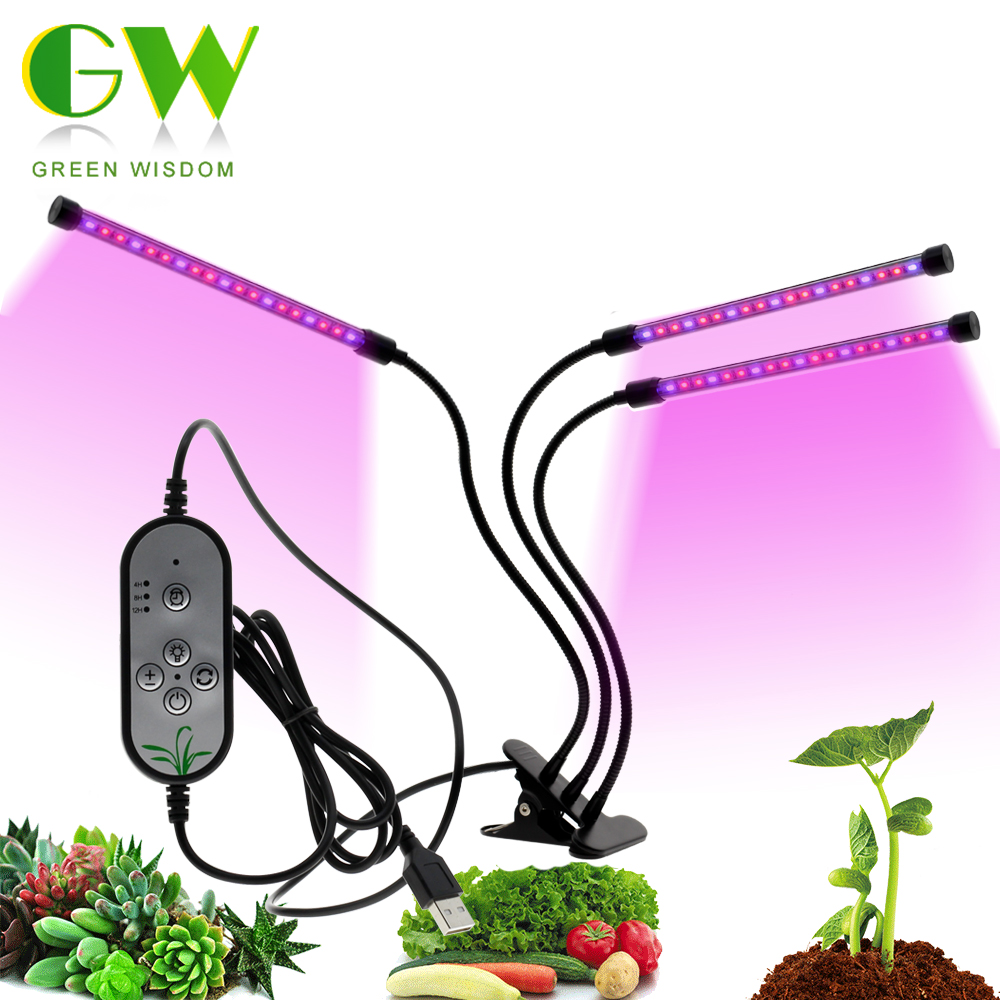 Tam spektrum Phytolamps DC5V USB LED Grow işık 3W 9W 15W 18W 27W 30W 45W masaüstü klip Phyto lambaları bitkiler çiçekler büyümek kutusu