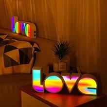 Цветной яркий светодиодный светильник для спальни украшение