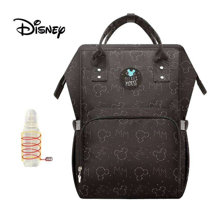 Disney Diaper Bag Backpack Baby Bags For Mom USB Travel Wet Nappy Boy Girl Diaper Organizer Stroller Pram Mickey Mouse