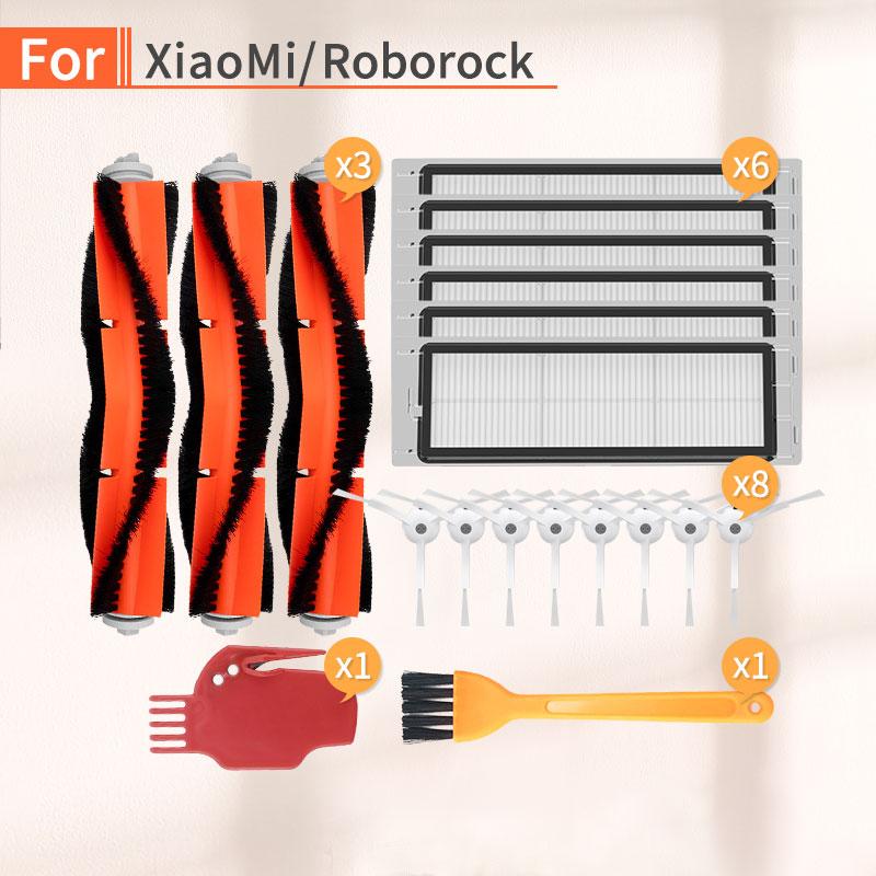 Vacuum Cleaner Filter HEPA Side Brush Main Brush Accessories For Xiaomi 1 2 Roborock S6 S50 S55 Robot Vacuum Cleaner Parts