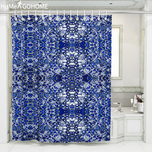 Waterproof Shower Curtains for Bathroom Home Decor Polyester Fabric 3D Purple Crystal Stone Cool