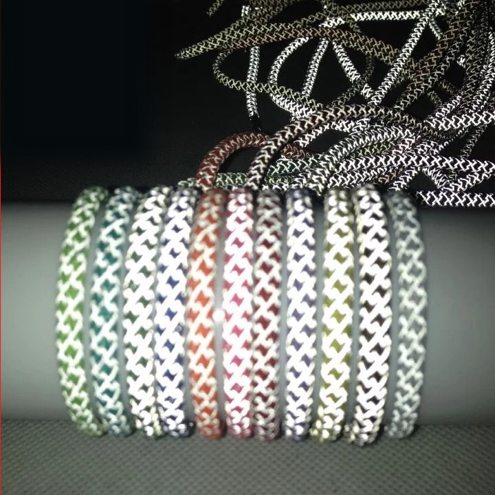 1Pair 3M Reflective Shoelaces Sneaker Shoelace Sport Shoelaces Round Rope Shoe Laces Length 100/120/140/160CM Shoelace Strings