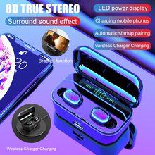 G6S Bluetooth 5.0 Earphone 8D Stereo Sport Wireless Earbuds headset Mini TWS Earphones Waterproof with 3500mAh Power