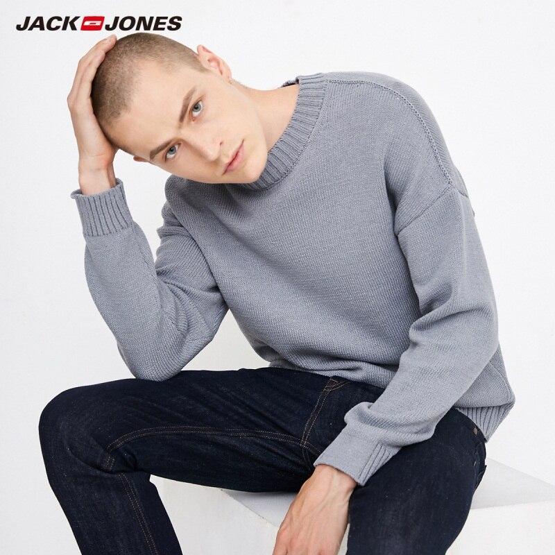 JackJones Men's Crew Neck Casual Loose Fit Sweater 218325503