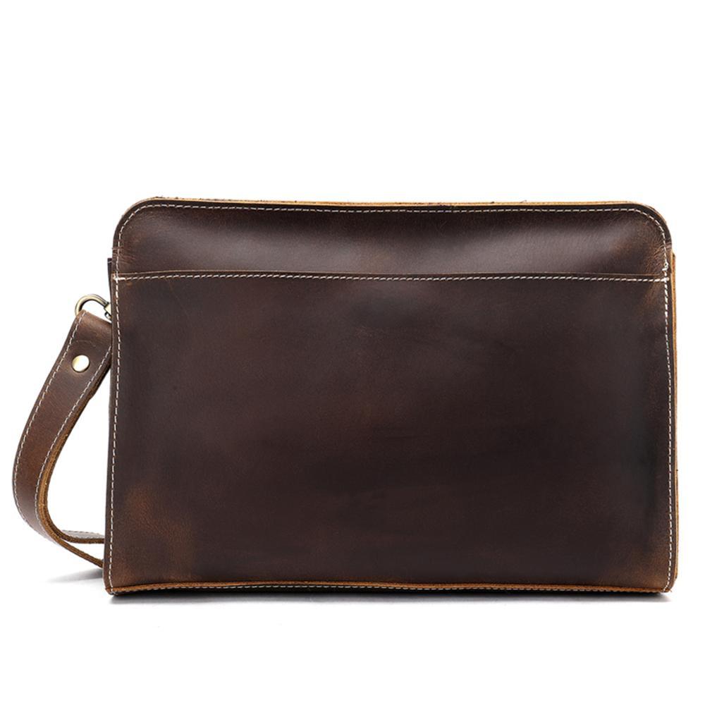 Simple Black Casual Cowhide Leather Business Bag Messenger Bag Men Briefcase Bag