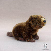 Cute Stuffed Animal Toy Doll Real Life Plush Beaver Children Toys Gifts Educational Good Quality