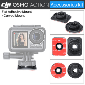 Image 5 - ULANZI Quick Release Base Mount W 3M Adhesive Tape Sticker Adapter For Gopro Hero 7/6/5 DJI Osmo Action Camera Accessories Kit