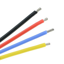 5 Meters 22AWG 24AWG 26AWG 28AWG 30AWG Super Soft Heat-Resistant Silicone Cable Battery Wire Red Black Blue White 6 Colors
