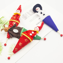 4pcs Christmas Decorations Children Hide And Seek Wooden Toys Wedding Gifts Cartoon Cannon Barre