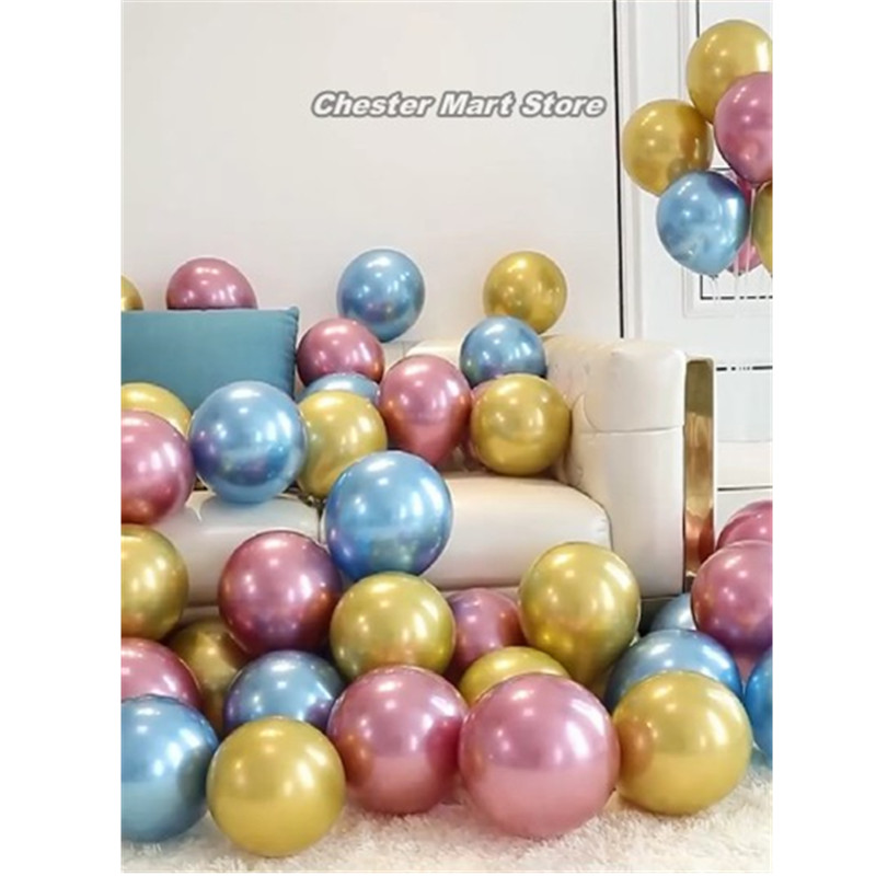 10PCS metal latex balloon 10/12 inch wedding party decoration with glue point