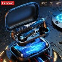 オリジナルレノボQT81 twsワイヤレスイヤホンbluetooth 5.1重低音タッチコントロールステレオスポーツ防水ノイズリダクションheadph