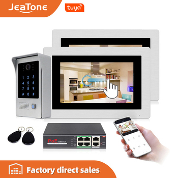 720P WiFi IP Video Door Phone Video Intercom 7'' Touch Screen Free App Remote Unlock Code Keypad RFIC Card Access Control System цена 2017