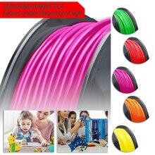 цена на High Quality PLA 3D Filament Printer Filament 1.75mm For MakerBot RepRap 10/50/100m Orange/Red/Rose Red/Green/Yellow