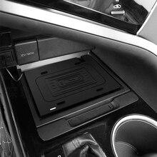 10w רכב אלחוטי נייד טלפון מטען טעינת צלחת טעינה מחזיק עבור טויוטה קאמרי 2018 2019 2020 עבור iPhone 8 11