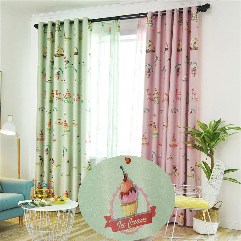 Kids Bedroom Window Curtains Pink And