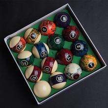 Jeu de boules de billard 16 pièces de 2020mm, accessoires, boules de résine de haute qualité, avec motif de marbre, nouveau Design 57.2