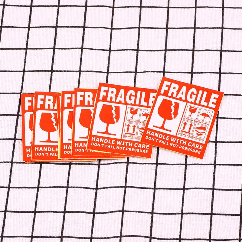 50 unidades de etiquetas adhesivas de advertencia frágiles, envío exprés, etiquetas adhesivas