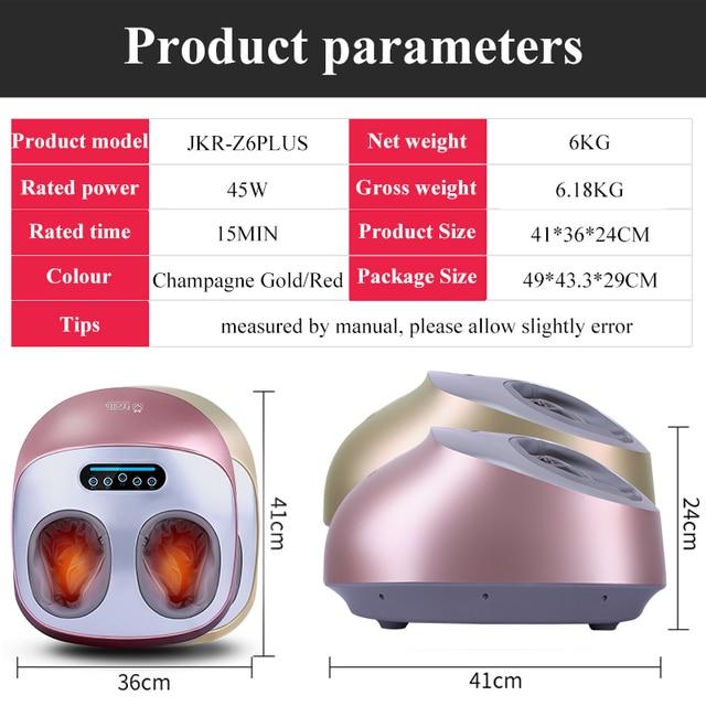 JinKaiRui Electric Vibrator Foot Massager Health Care Massage Infrared Heating Therapy Shiatsu Kneading Air Pressure Machine 3