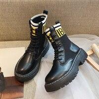 Women Leather Casual Shoes Fashion Martin Boots Leisure Sneaker Women High top Buty Damskie Women Winter Shoes Woman Botas Mujer