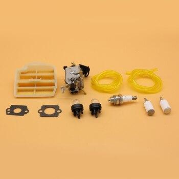 Carburetor Air Fuel Line Filter Kit for Husqvarna 445 450 445E JONSERED CS2245S 506450401 ZAMA C1M-EL37B CARB Chainsaw Parts c1m w26 carburetor with 530057925 air filter fuel line filter tune up kit for poulan p3314 p3416 p3816 p4018 pp3416 pp35