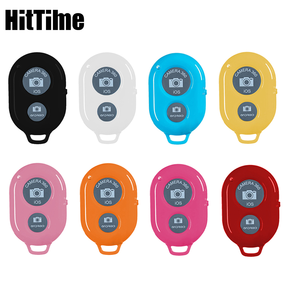 Кнопка дистанционного управления HitTime с Bluetooth, беспроводной контроллер, селфи палка для камеры с автоспуском затвора, монопод для телефона, ...