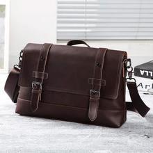 Large Capacity Men Briefcase Bag Casual Style PU Business Fashion Shoulder Male Office Handbag Messenger Bags