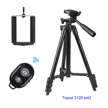 Buy Portable Lightweight Professional Aluminium Camera Tripod 3110 / 3120 + Remote Shutter + U Clip Phone Holder For DSLR Iphone8 x directly from merchant!